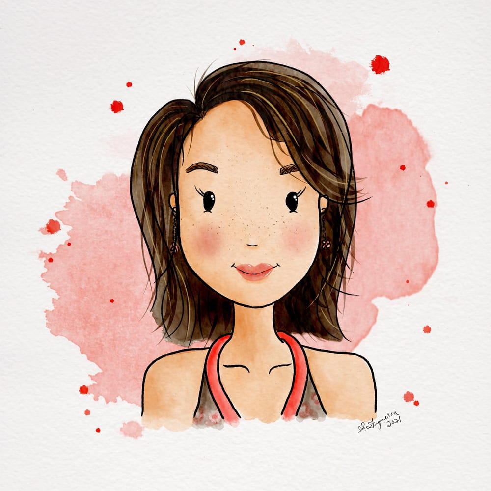 Stylized Watercolor Portrait - image 1 - student project