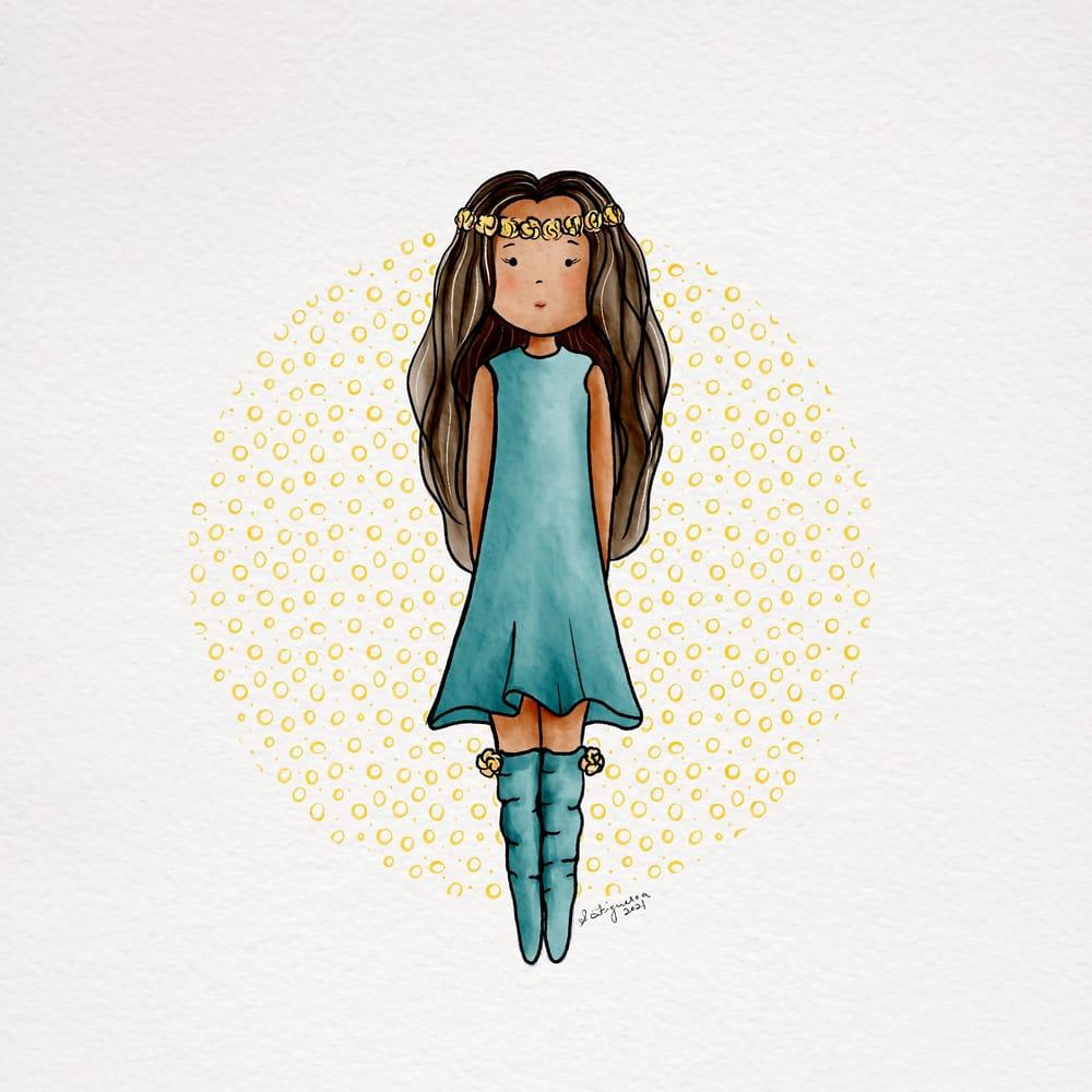Sweet stylized girl - image 2 - student project