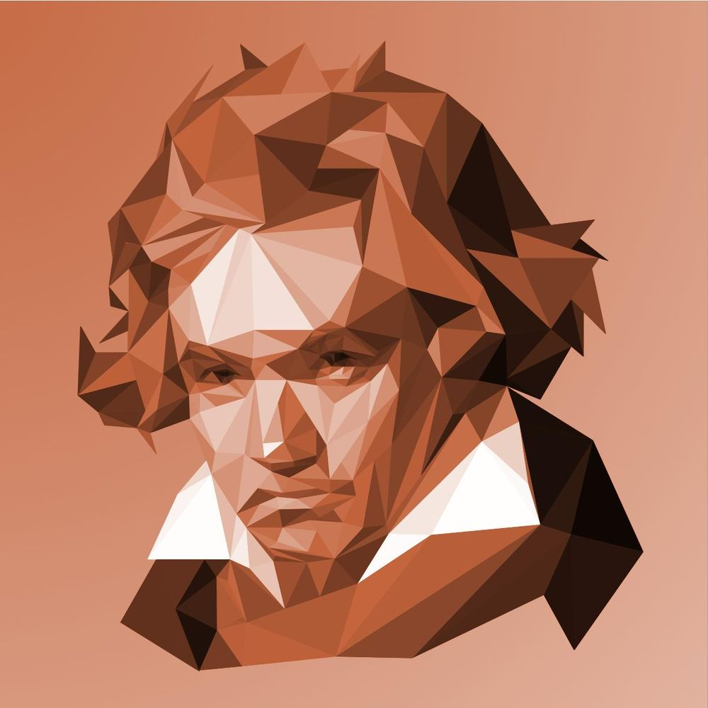 Low Poly Portraits of Classical Composers - image 2 - student project