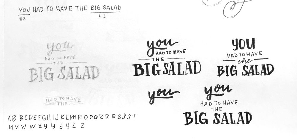 """""""You had to have the BIG SALAD!"""" - image 1 - student project"""