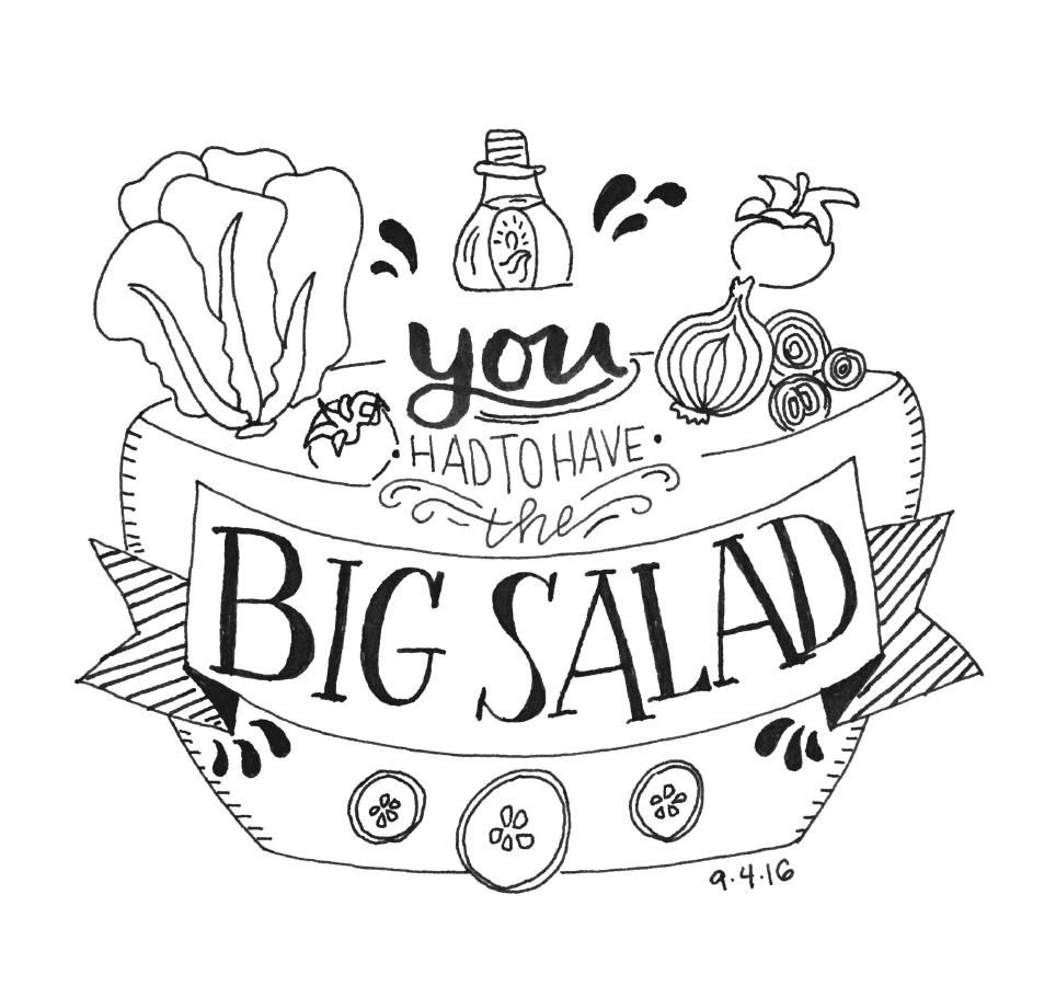 """""""You had to have the BIG SALAD!"""" - image 5 - student project"""
