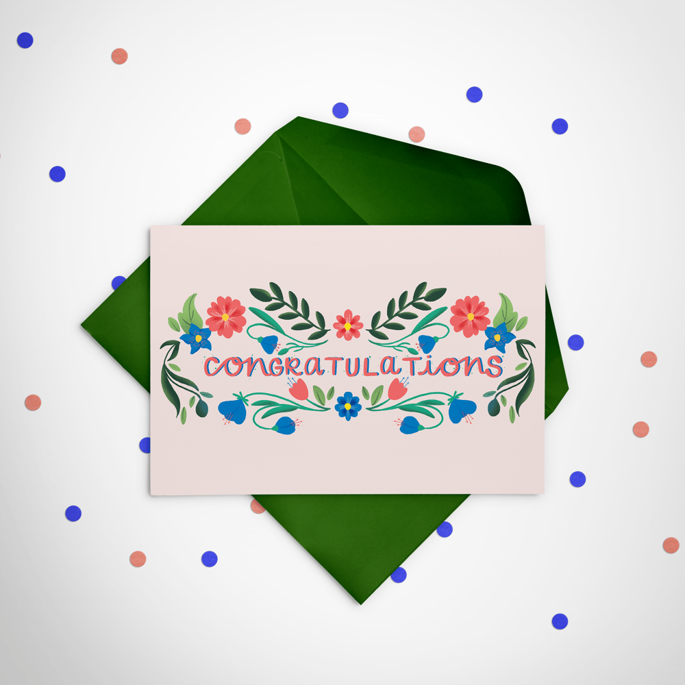 Floral Greeting Card - image 2 - student project