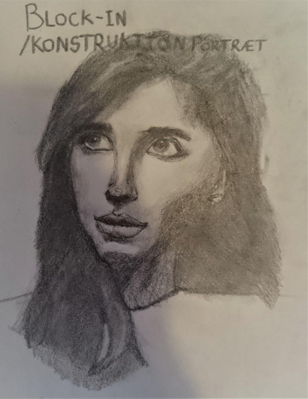 My first attempt at a portrait drawing (ref. pinterest) - image 2 - student project