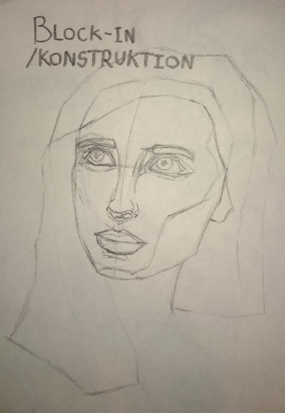 My first attempt at a portrait drawing (ref. pinterest) - image 1 - student project