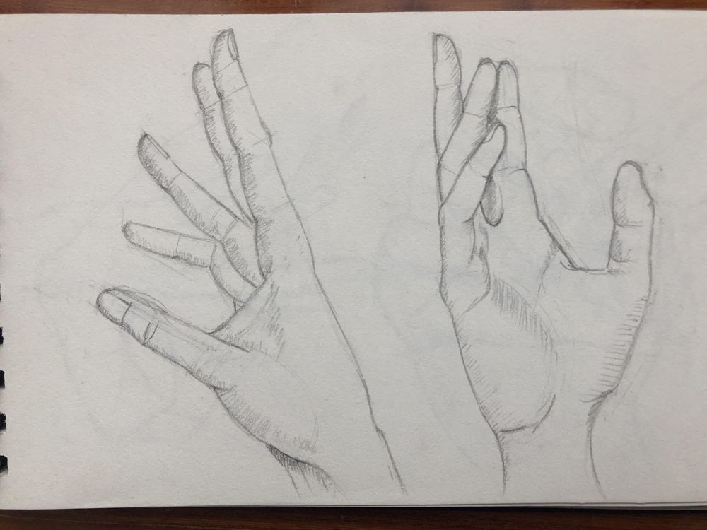 Hands sketching - image 3 - student project