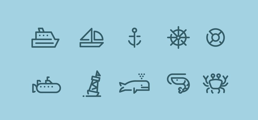Ocean Icons - image 1 - student project