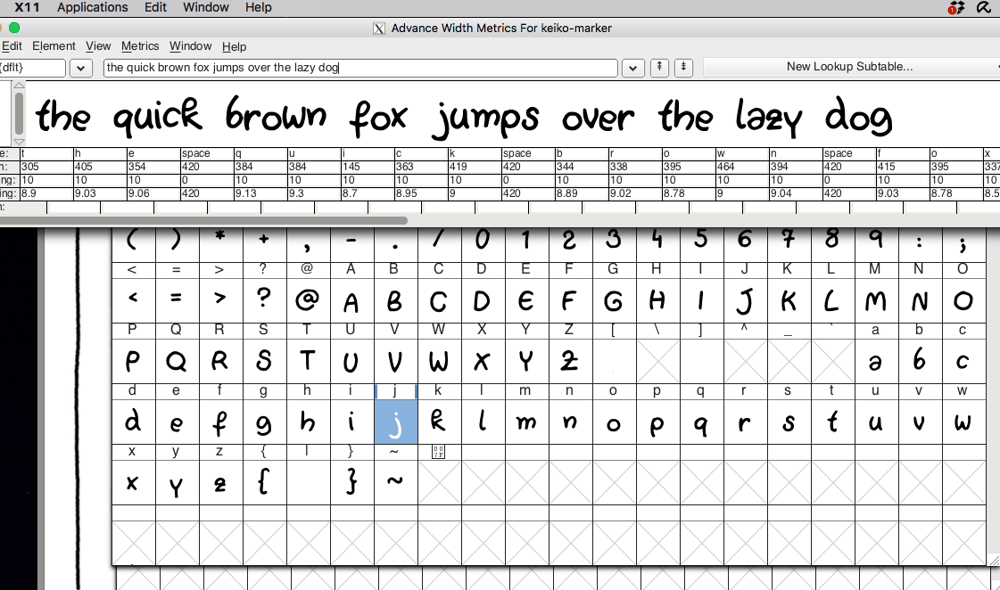 It's Tropical! Creating a font from my handwriting.  - image 2 - student project