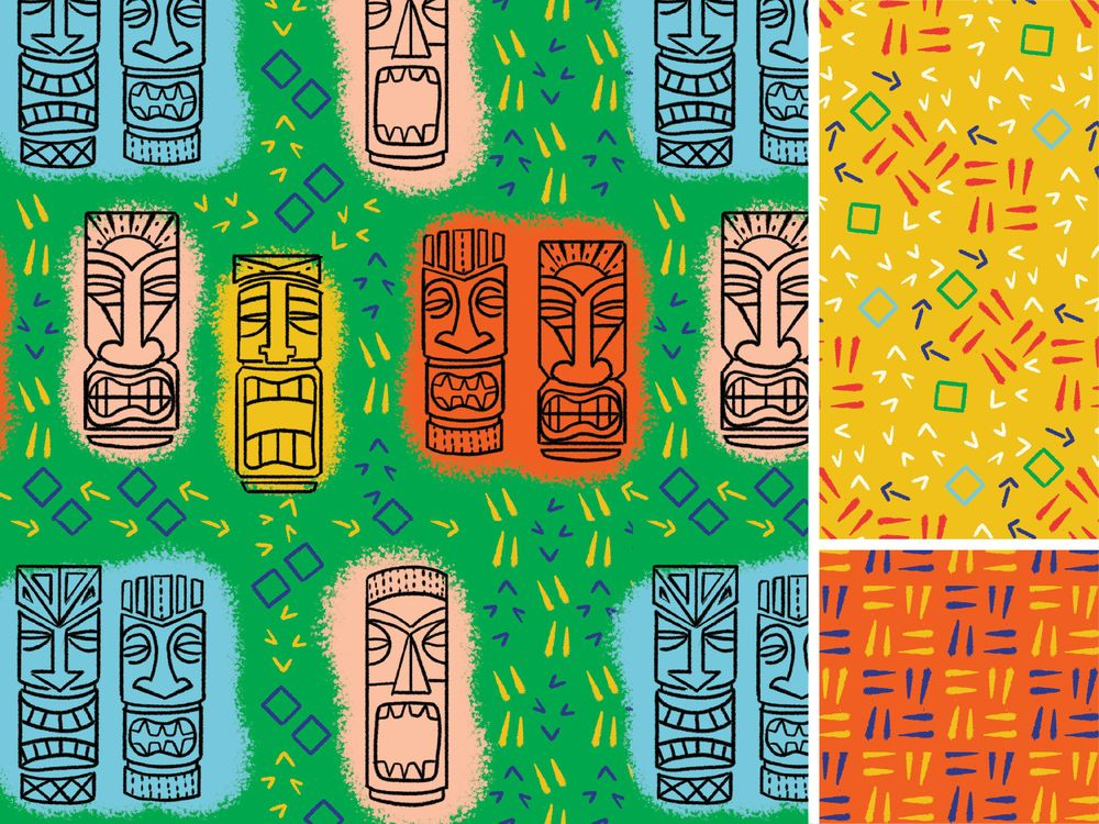 Tiki Pattern - image 1 - student project
