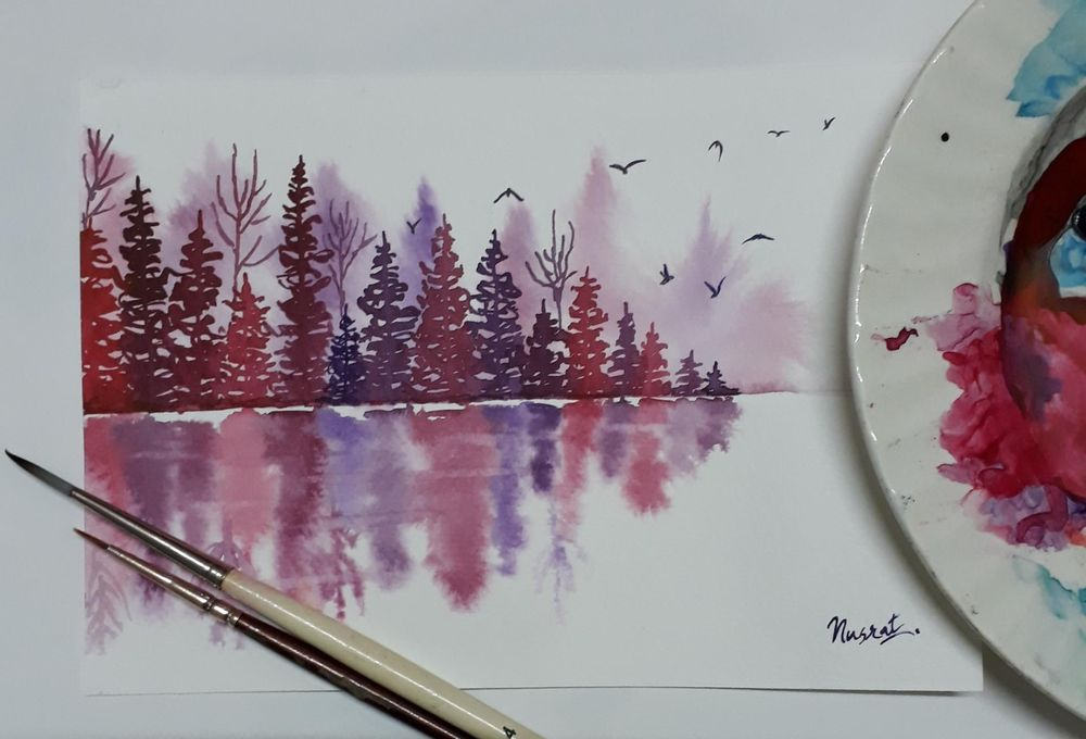 Misty pines with Trupti - image 1 - student project