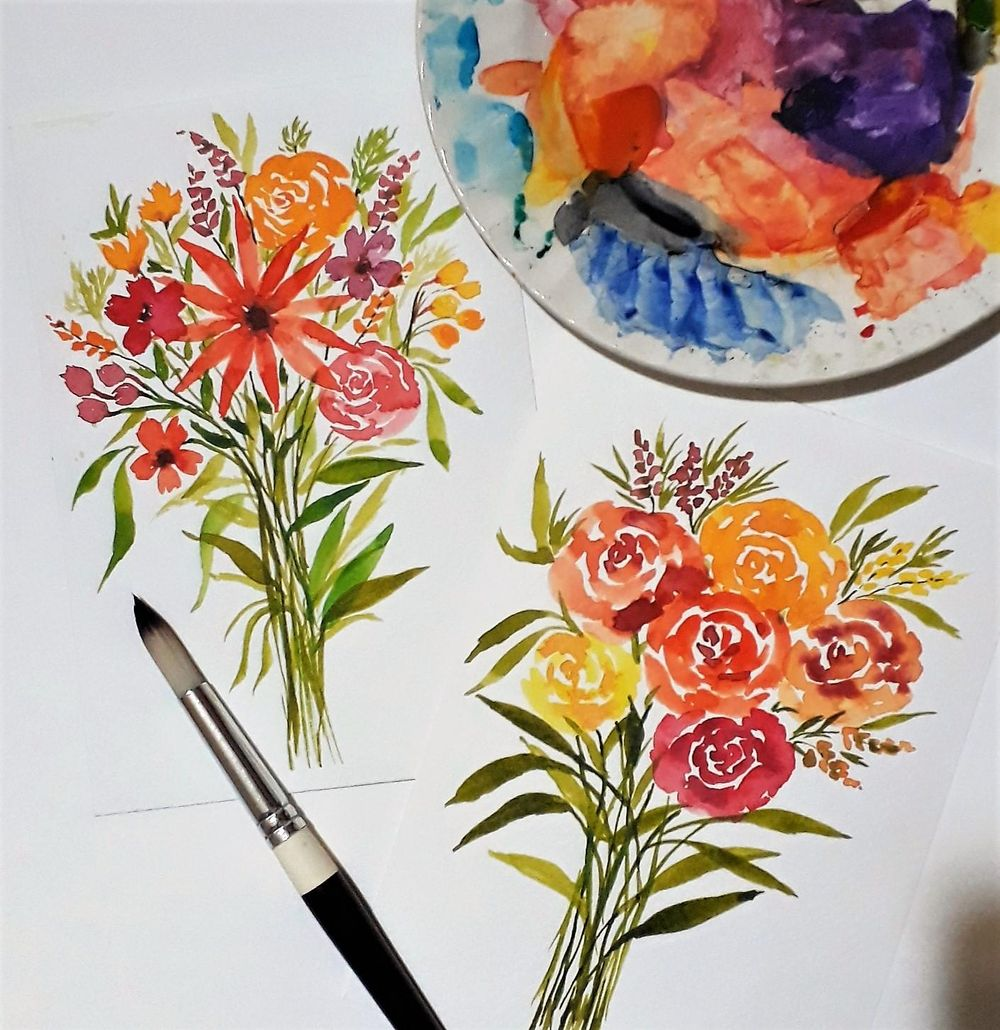 Loose floral bouquets - image 1 - student project