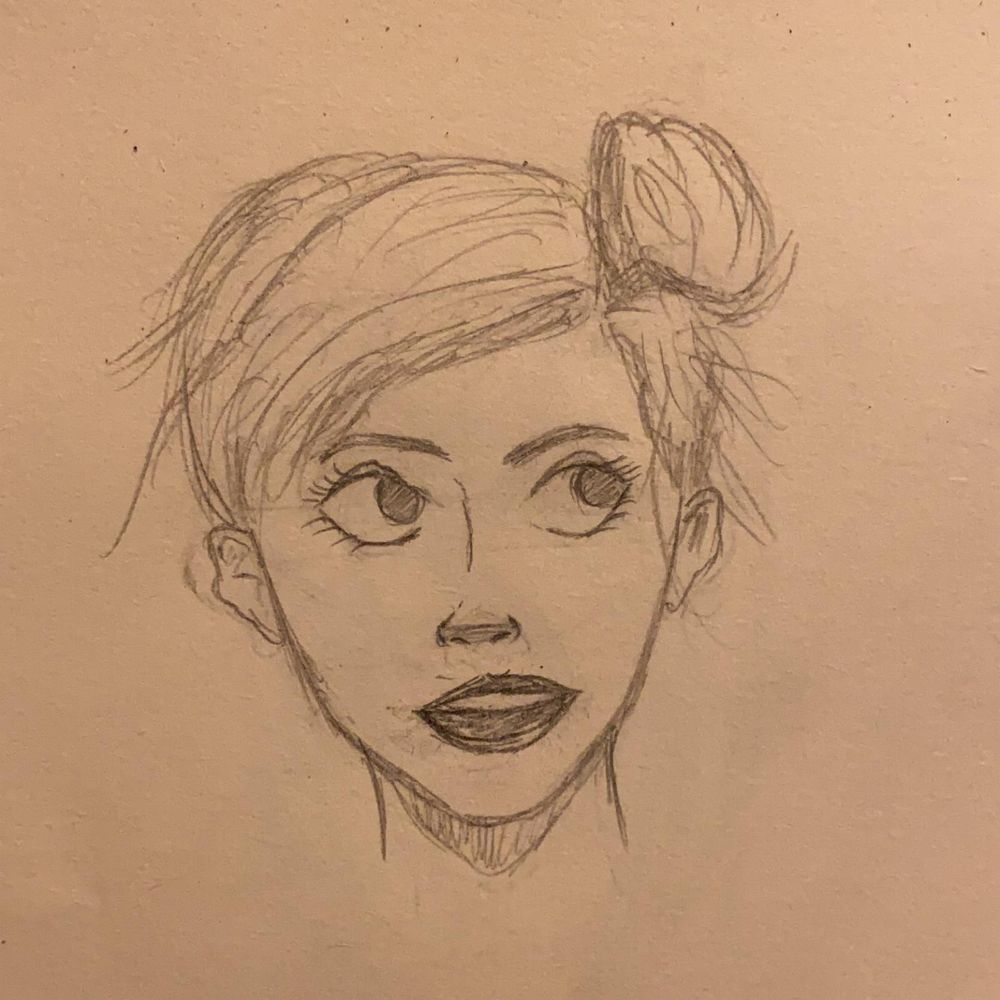 My First complete Face drawing - image 1 - student project