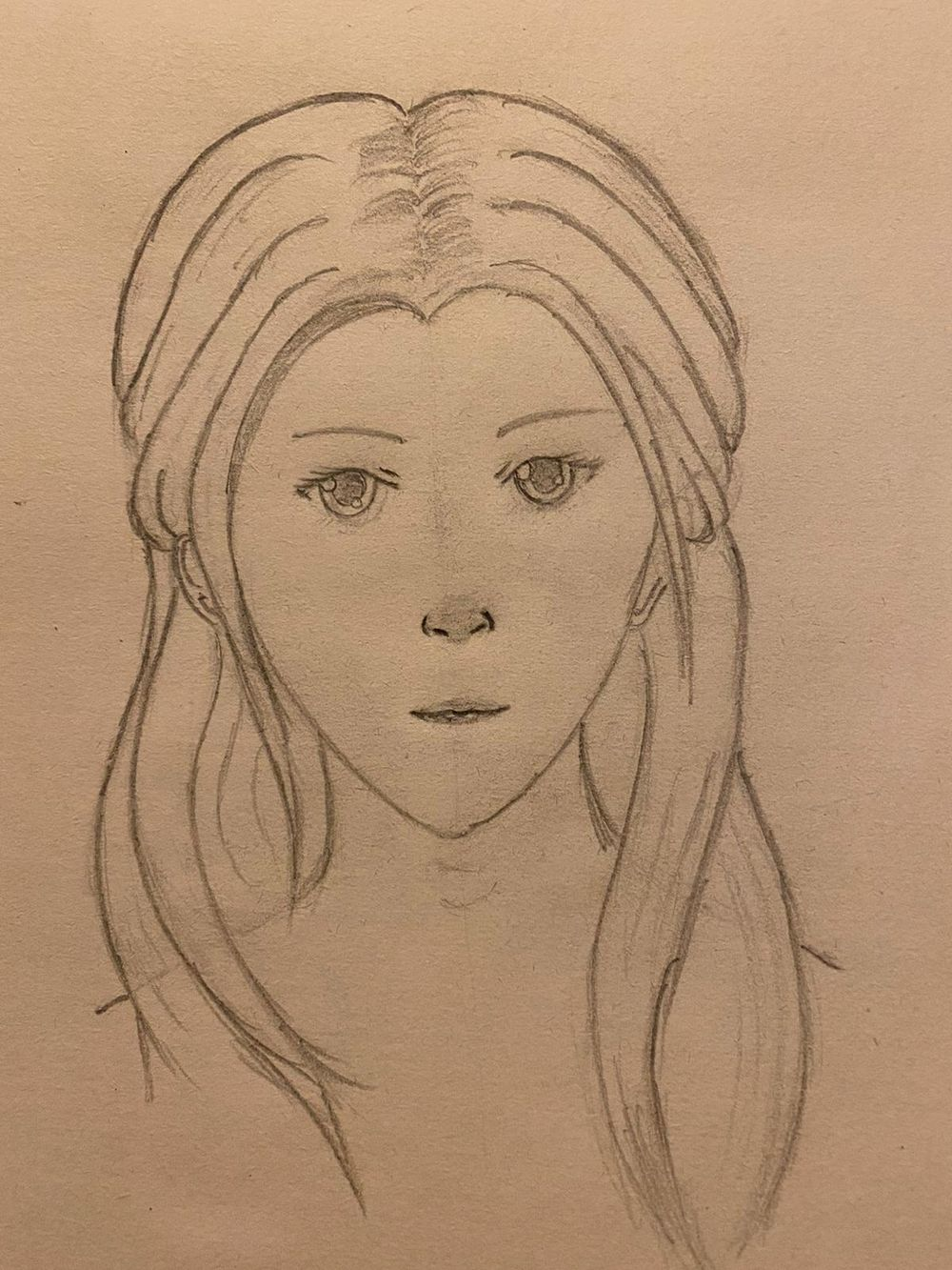 My First complete Face drawing - image 3 - student project