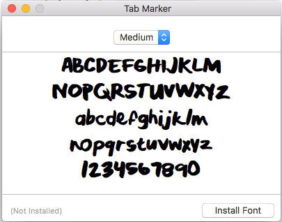 Tab Marker Font - image 1 - student project