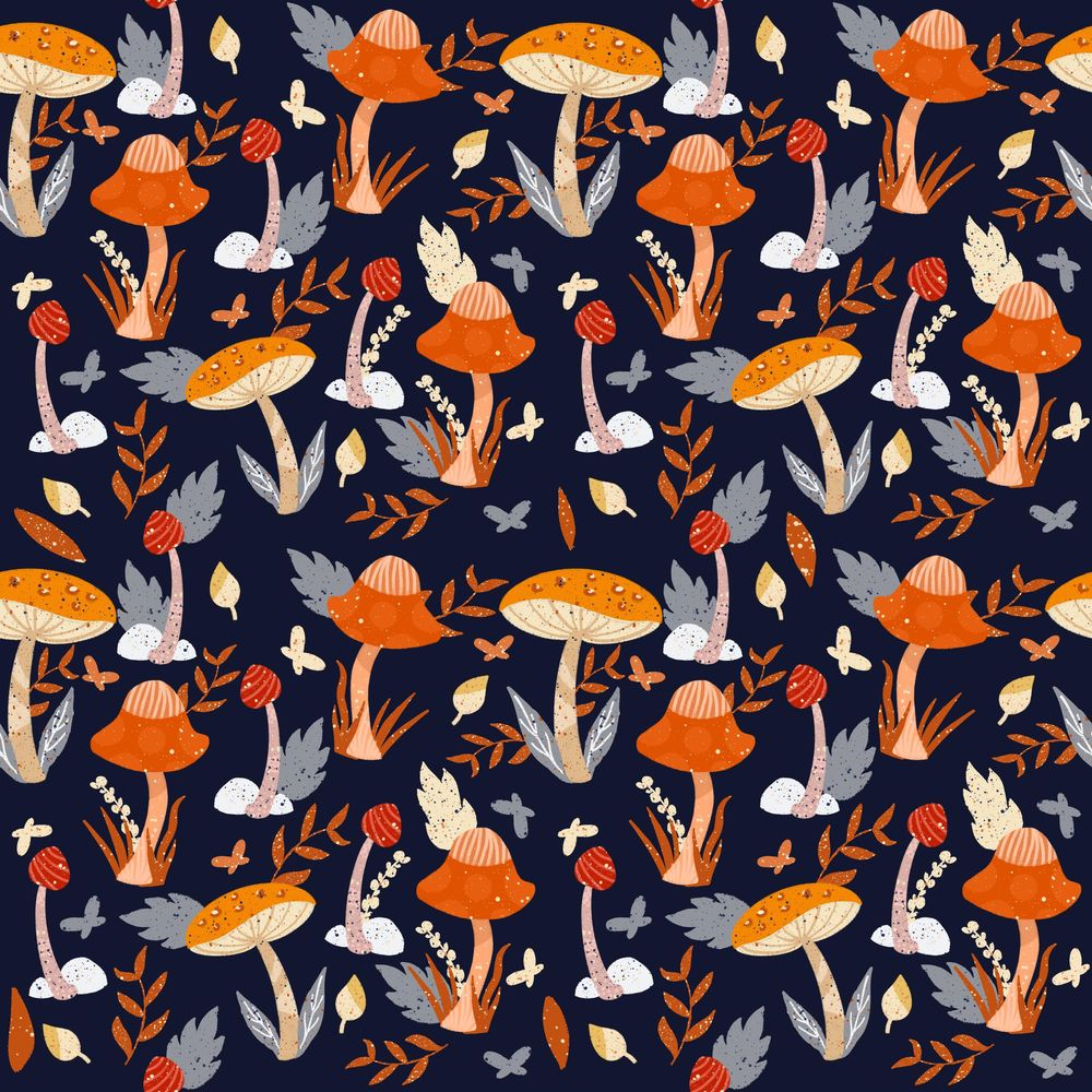 Mushrooms pattern - image 4 - student project