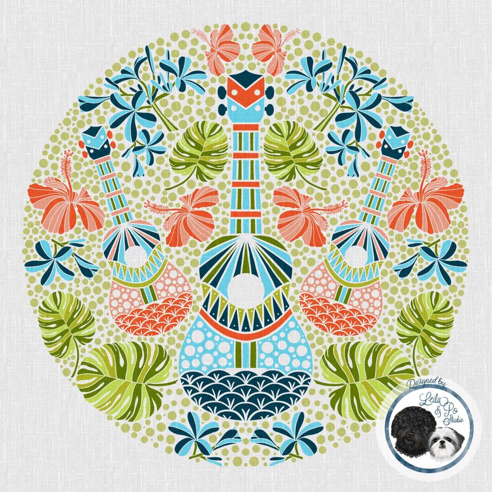 Vintage Tropical Ukulele Love - image 1 - student project