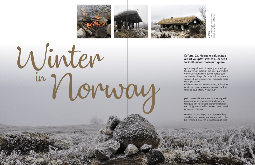 Mock magazine spreads - image 3 - student project