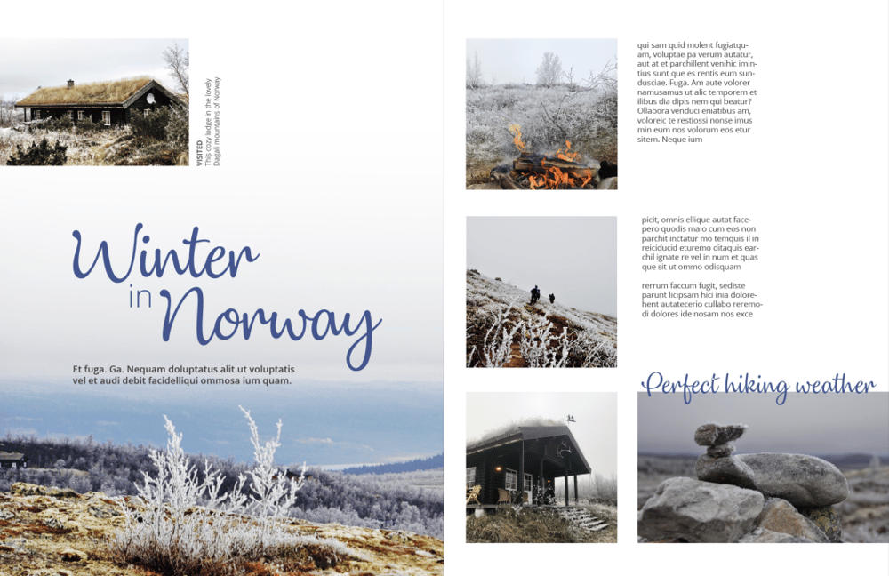 Mock magazine spreads - image 2 - student project