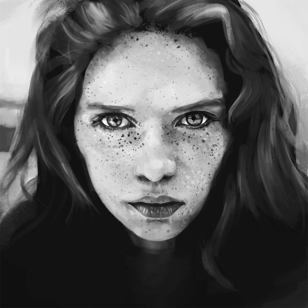 Digital Portrait of a Freckled Girl - image 6 - student project