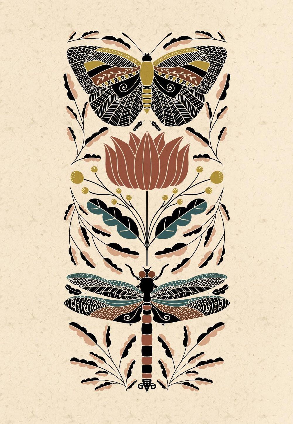 Folk Art Illustrations - image 3 - student project