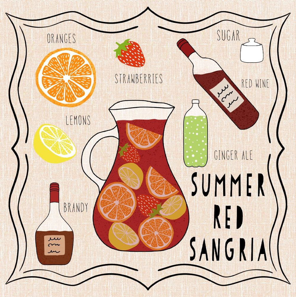 Summer Red Sangria - image 1 - student project