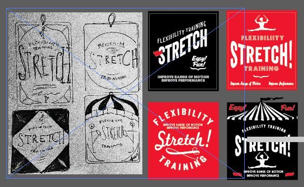 'STRETCH' - resistance band packaging/label - image 2 - student project