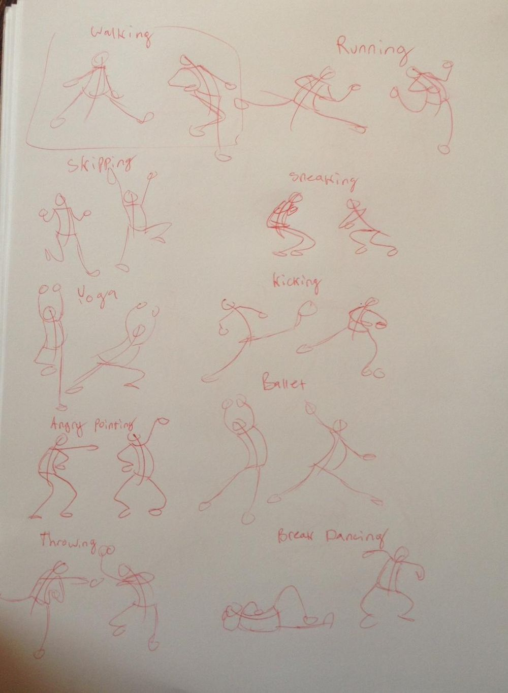 Stick Figure drawings - image 2 - student project