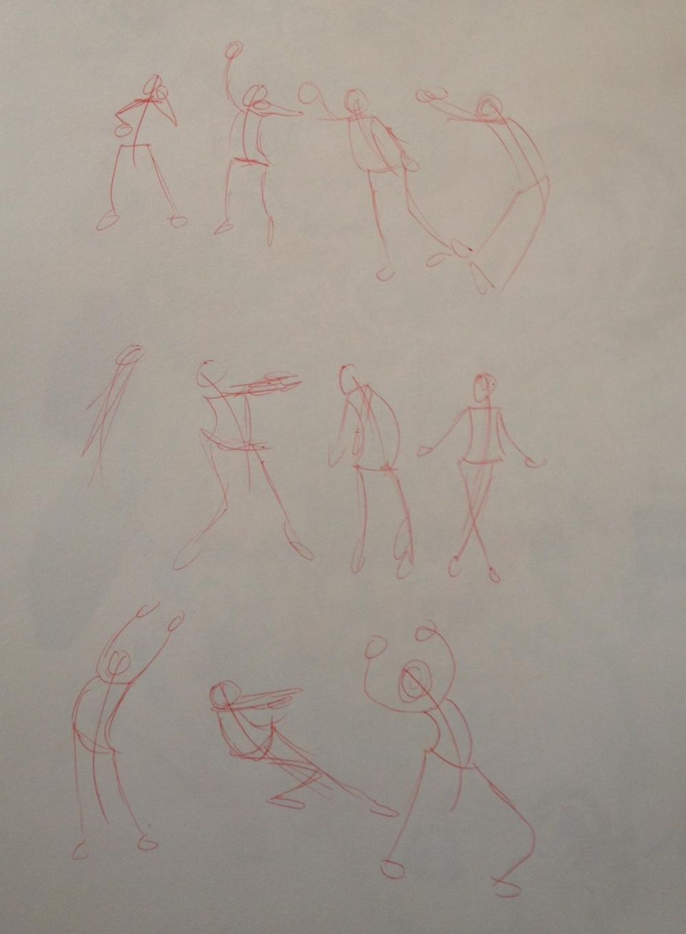 Stick Figure drawings - image 1 - student project