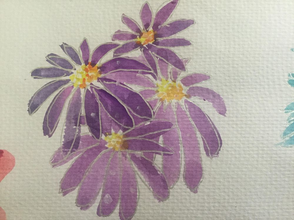 Watercolour flowers - image 2 - student project