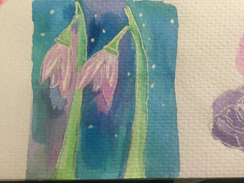 Watercolour flowers - image 1 - student project