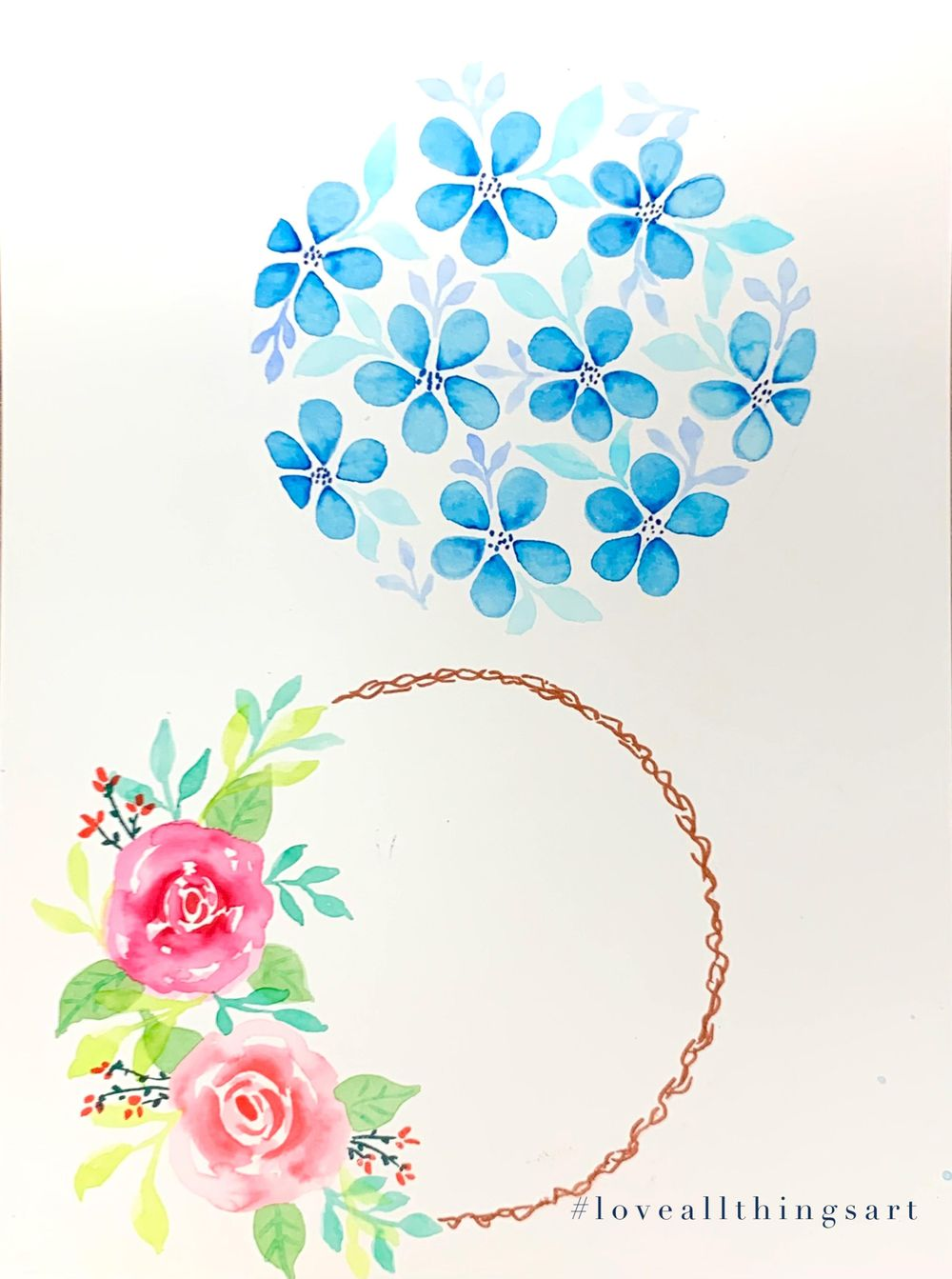 Brush pen florals - image 2 - student project