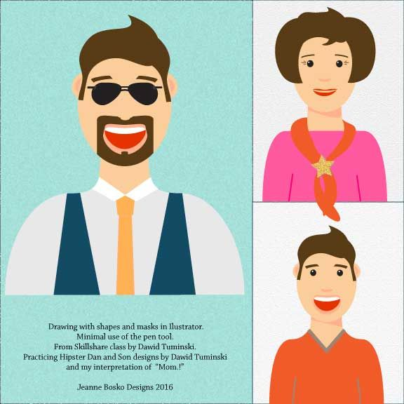 Dad-Mom-Son Hipsters - image 1 - student project