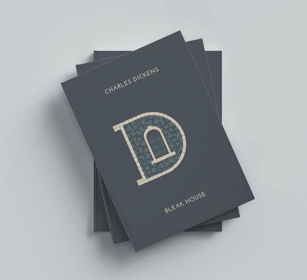 Book Cover for 'Bleak House' of Charles Dickens - image 6 - student project