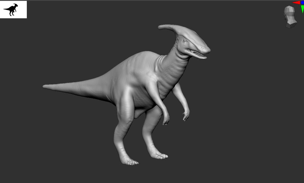 Hadrosaur - image 5 - student project