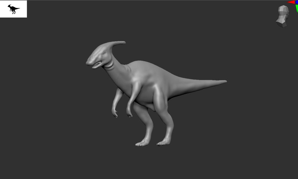 Hadrosaur - image 4 - student project