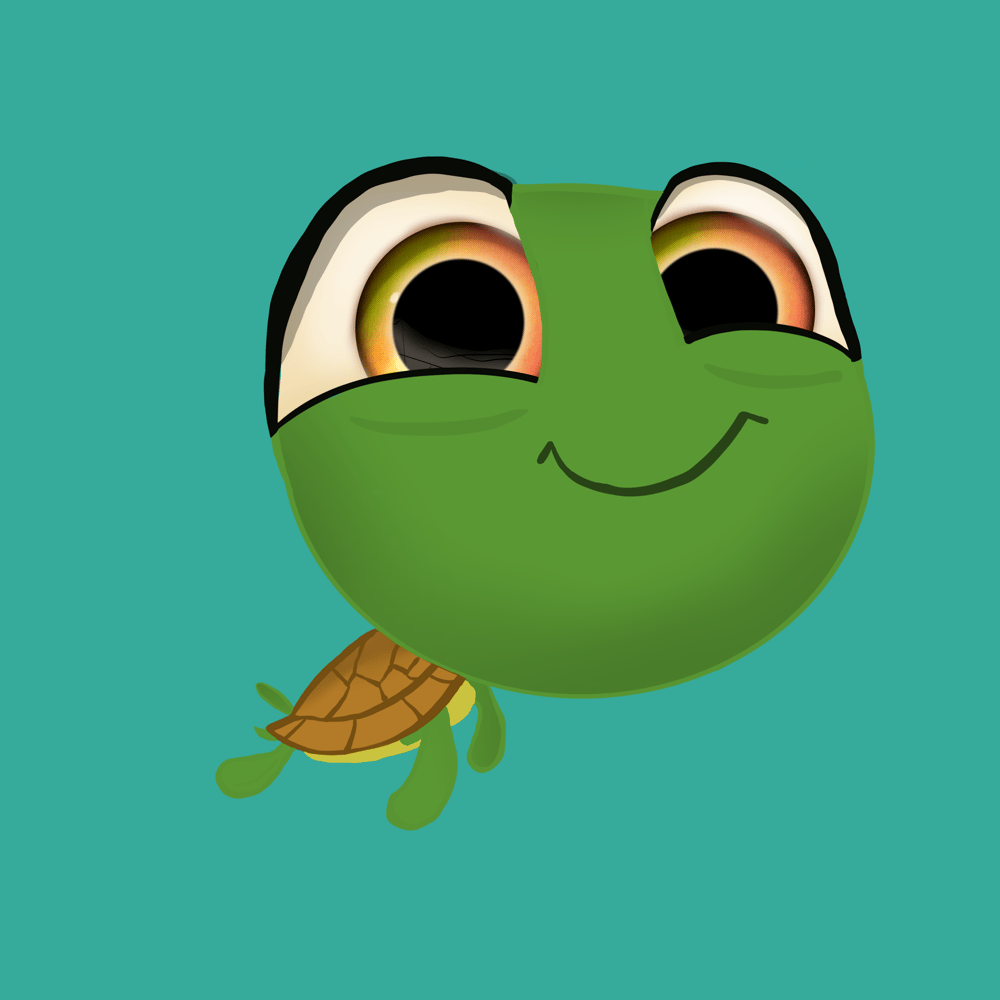 Chewy the Baby Sea Turtle - image 1 - student project