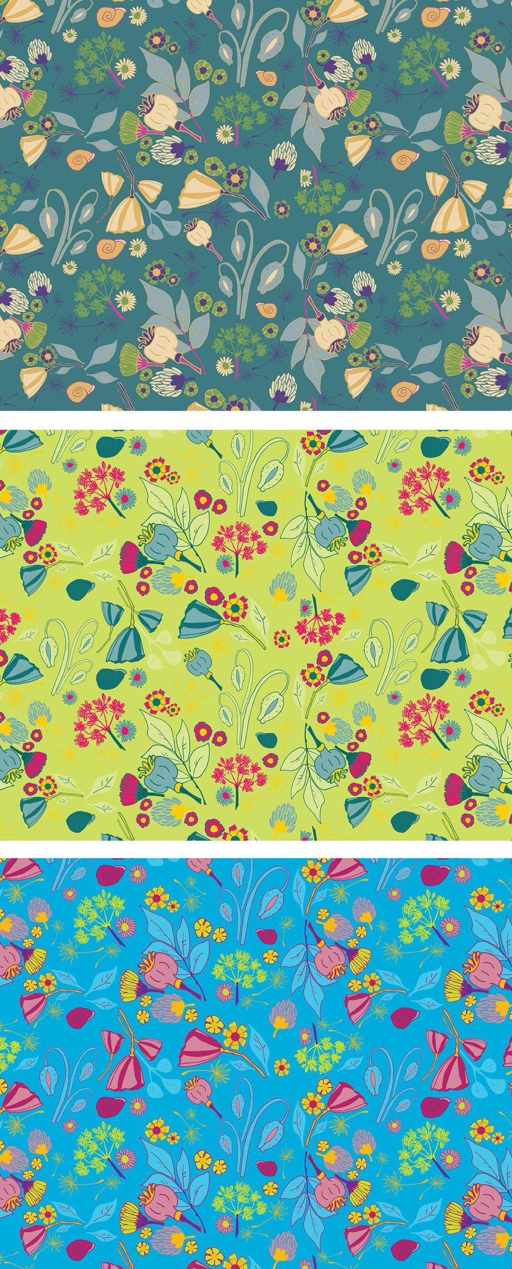 Illustrator: Surface pattern design - image 4 - student project