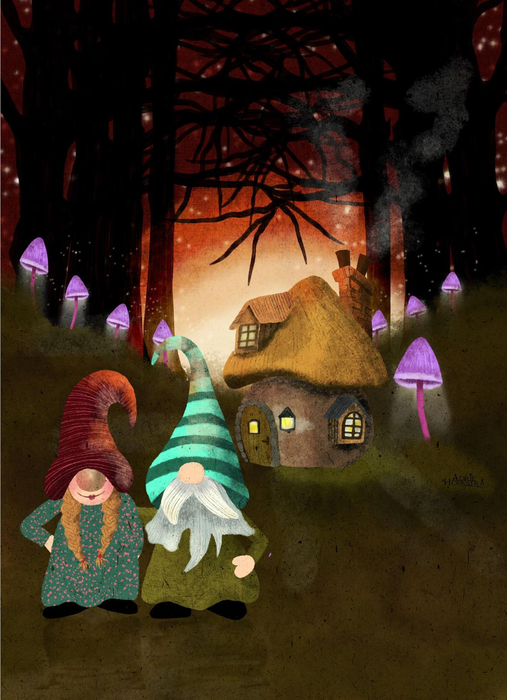 Whimsical scenes in procreate - image 2 - student project