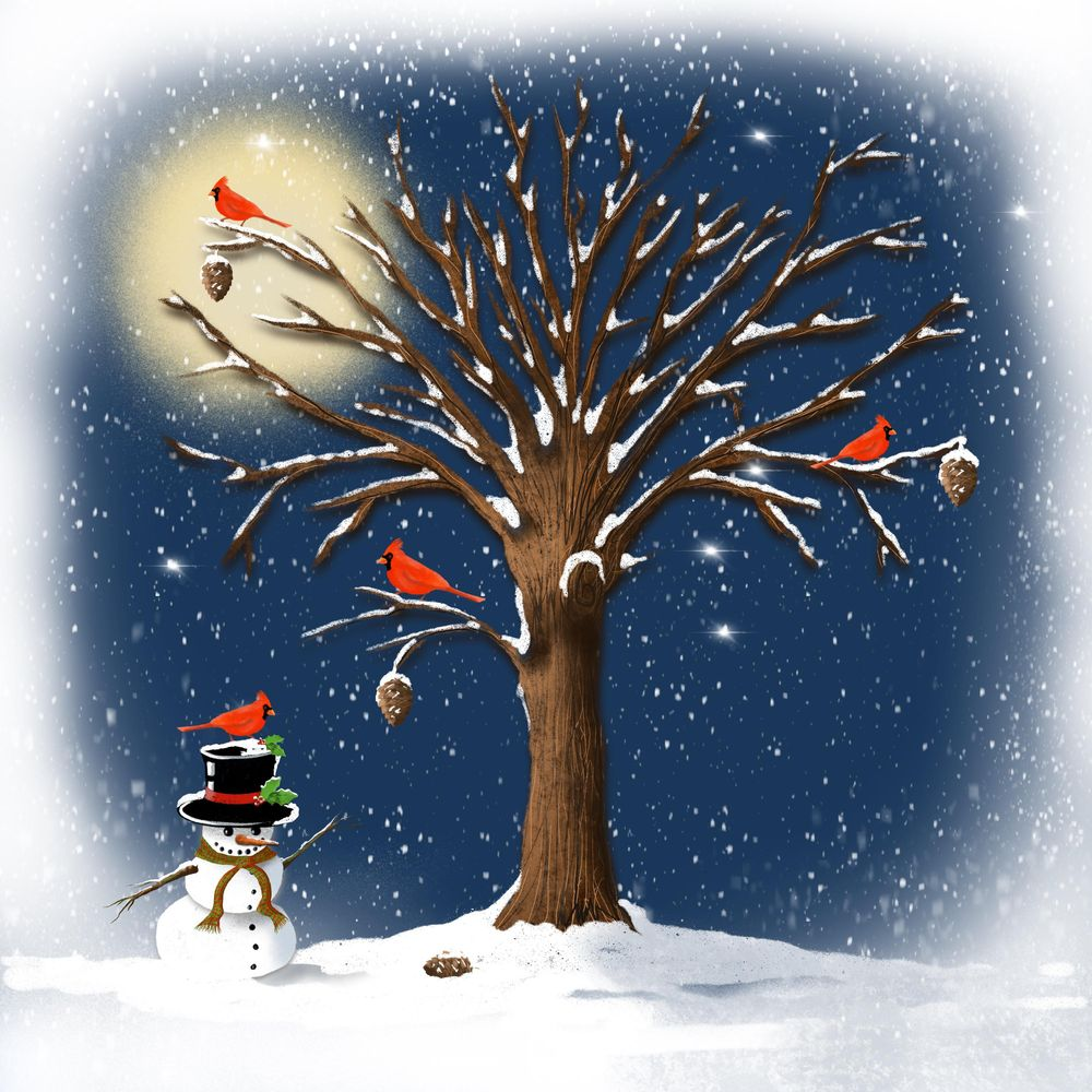 Winter and Christmas daily art - image 19 - student project