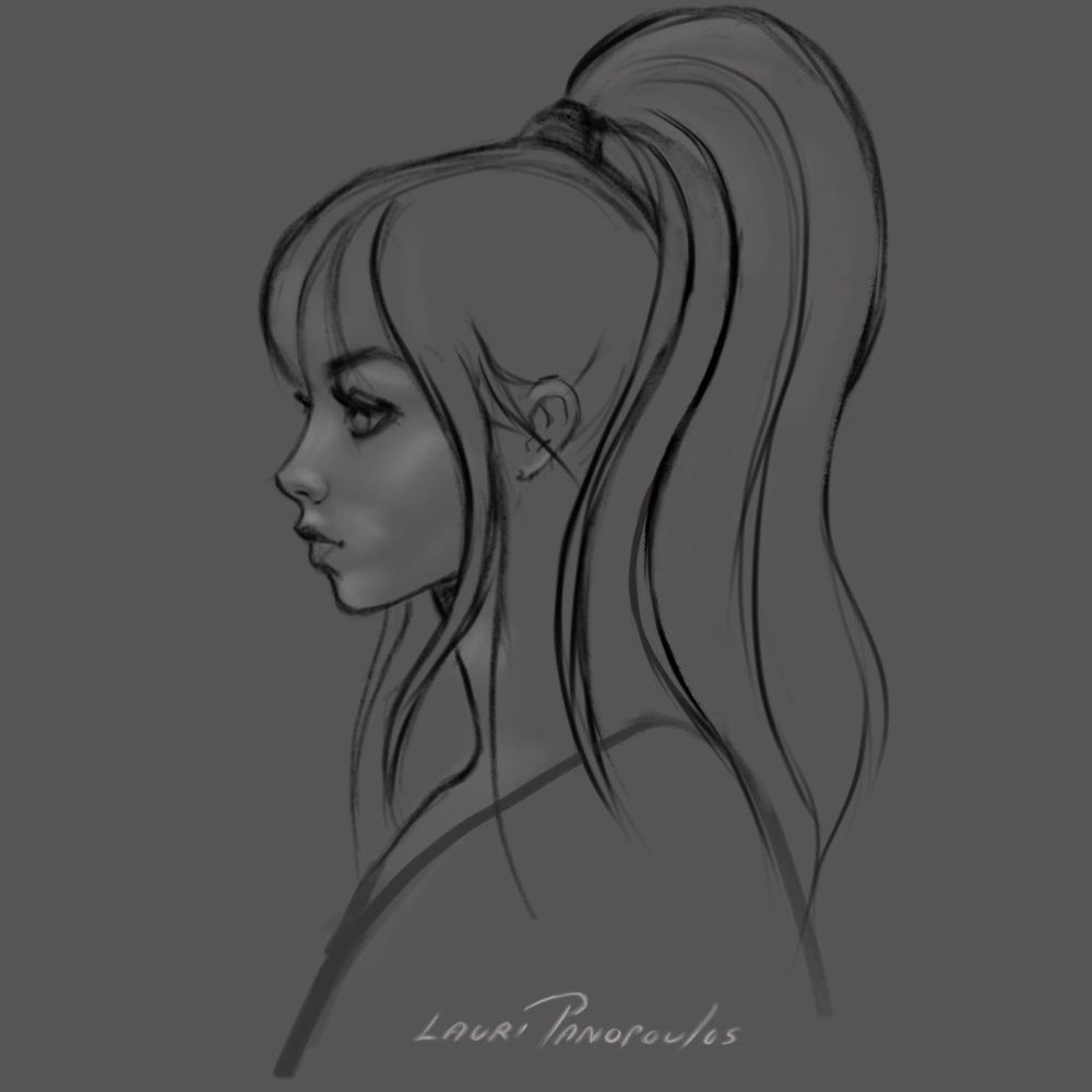 Girl with the side ponytail - Hi Gabrielle-Feedback Welcome - image 1 - student project