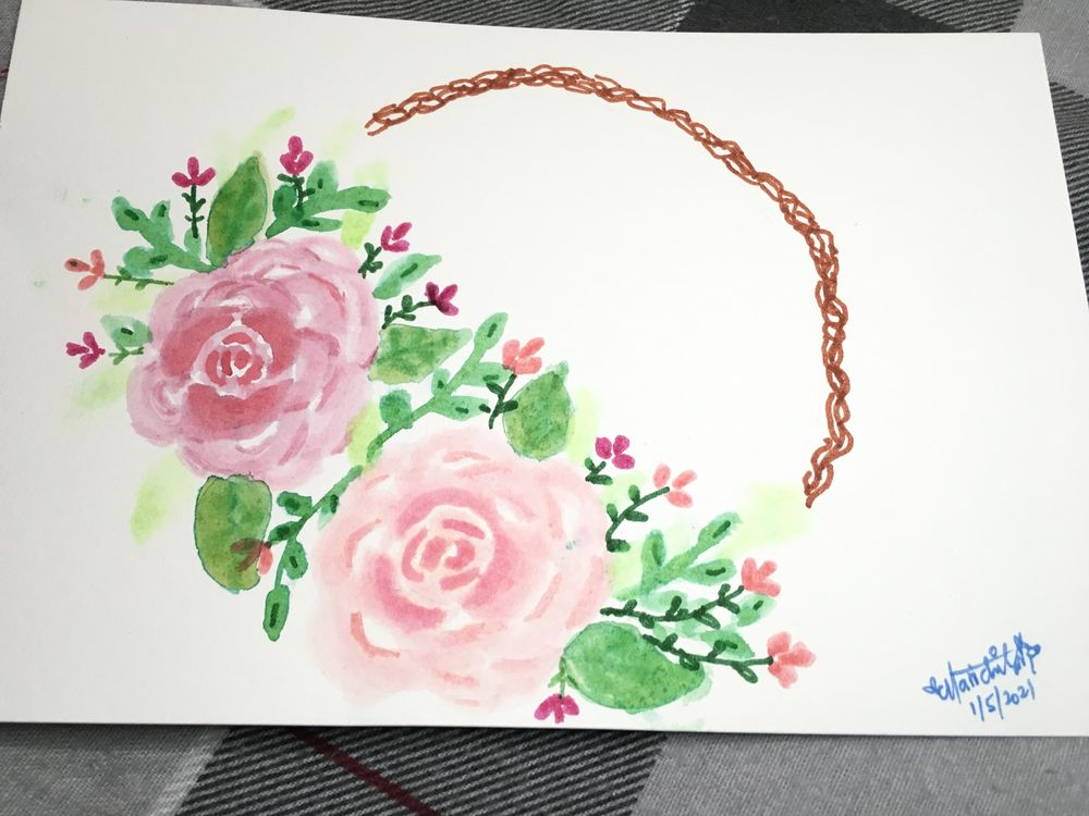 Brush Pen Loose Florals Watercolor Paintings - image 2 - student project