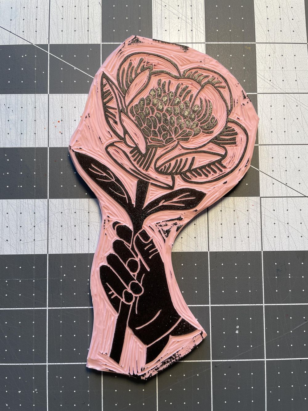 First block print! - image 2 - student project