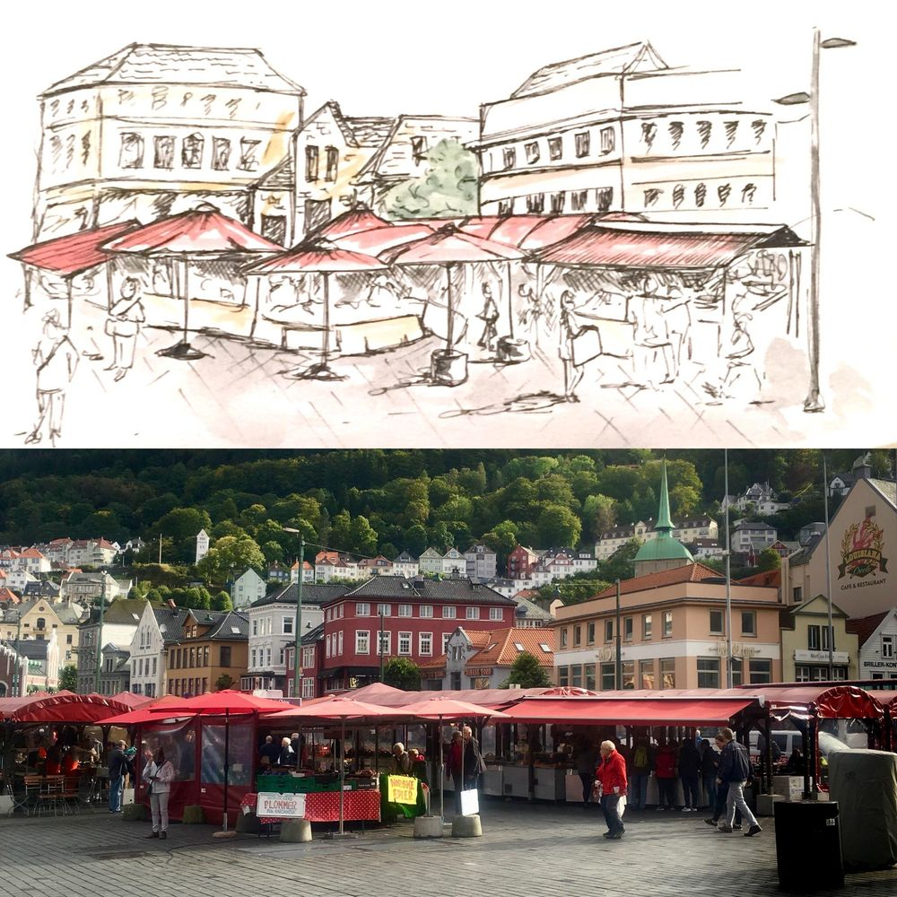 Urban Sketching - image 4 - student project