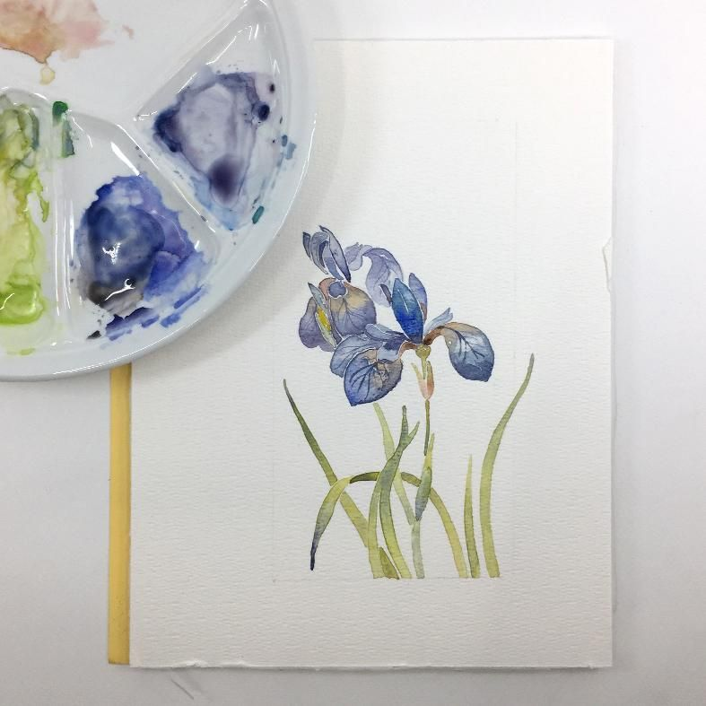 Watercolor flowers - image 3 - student project