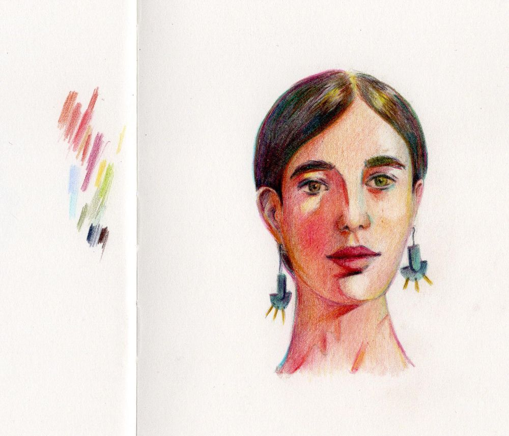 Portrait in Colored Pencil - image 1 - student project
