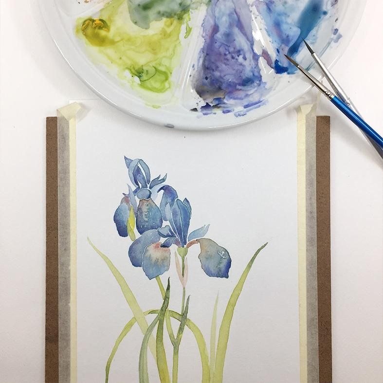 Watercolor flowers - image 4 - student project