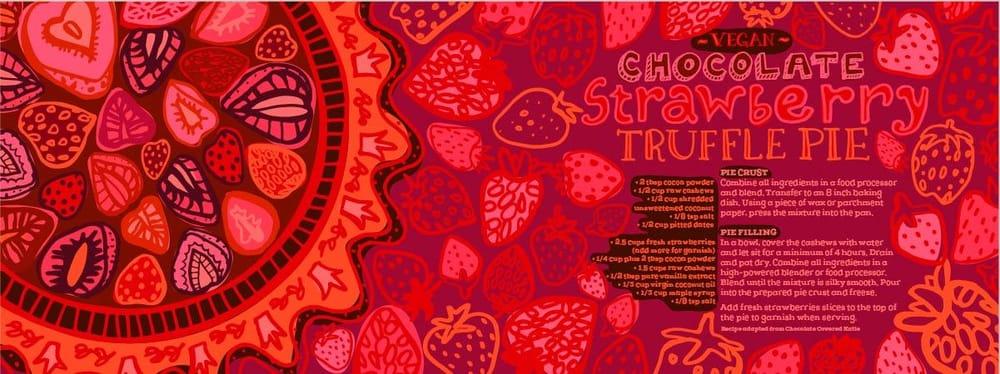 Chocolate Strawberry Truffle Pie - image 5 - student project