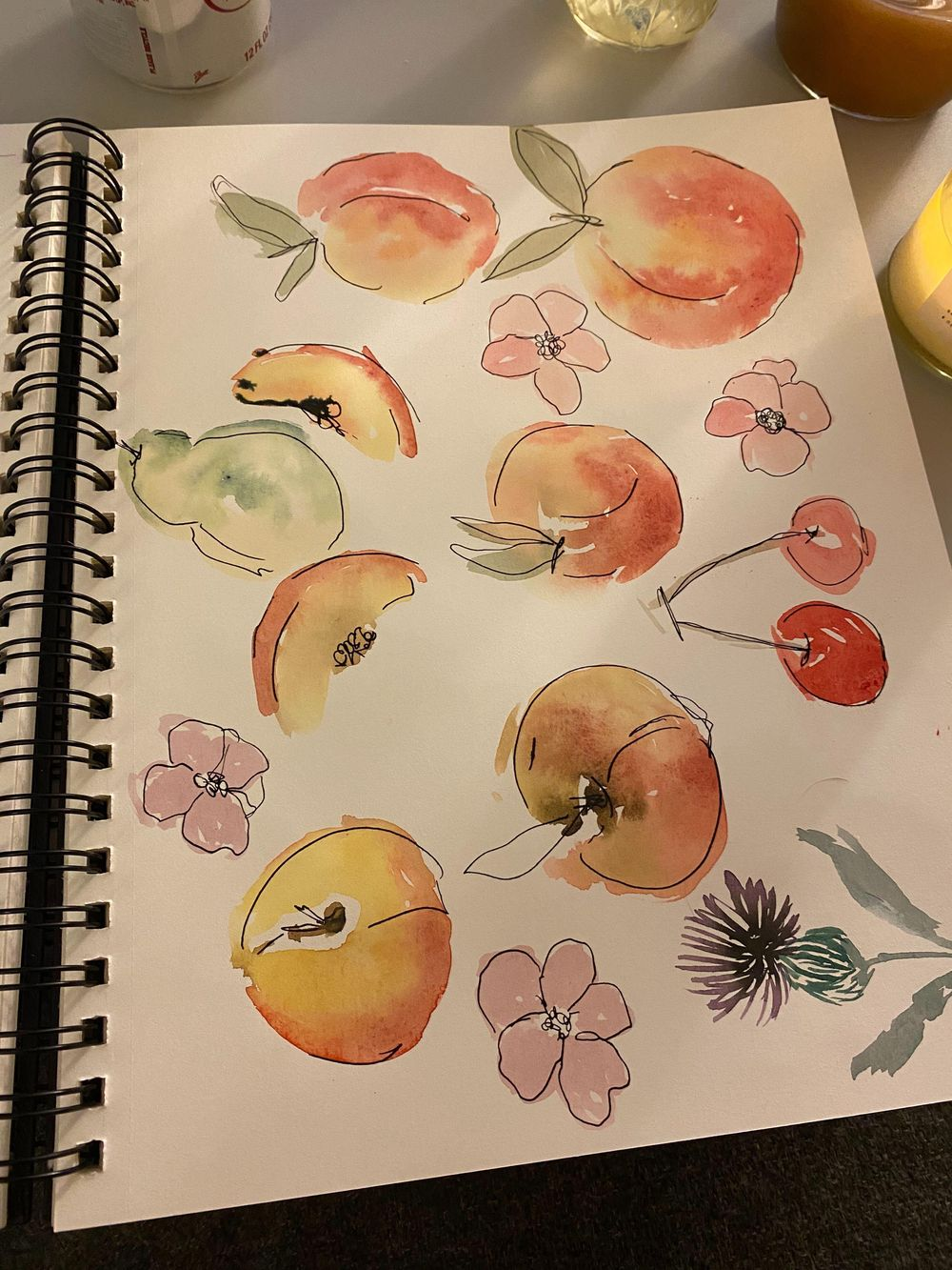watercolor + ink practice - image 8 - student project