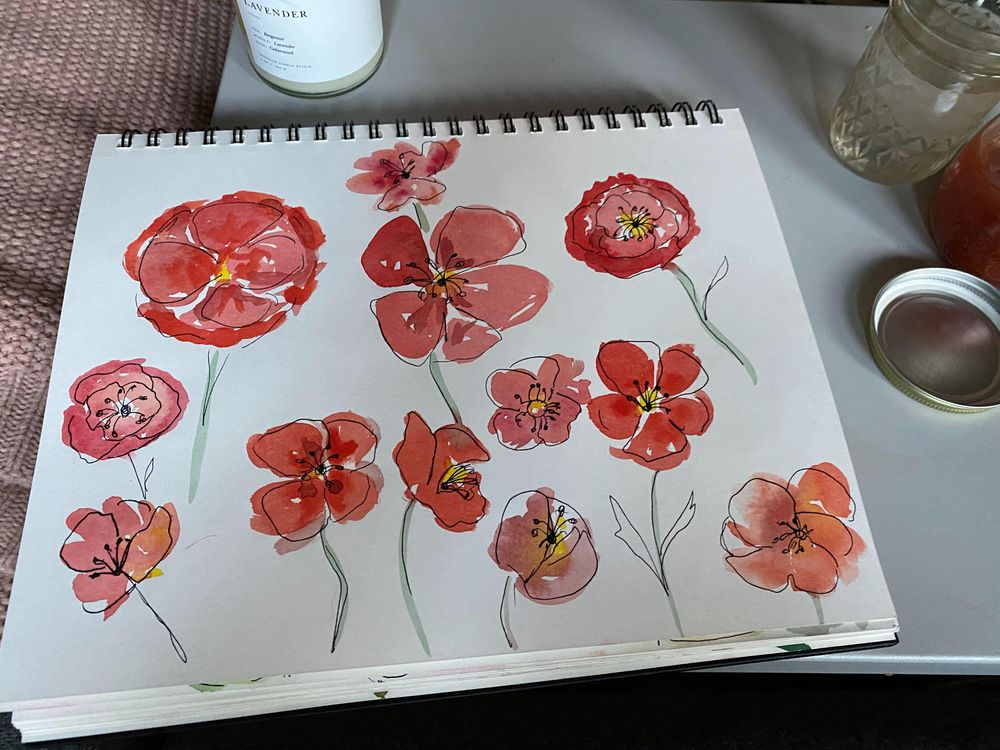 watercolor + ink practice - image 5 - student project