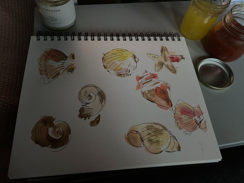 watercolor + ink practice - image 6 - student project
