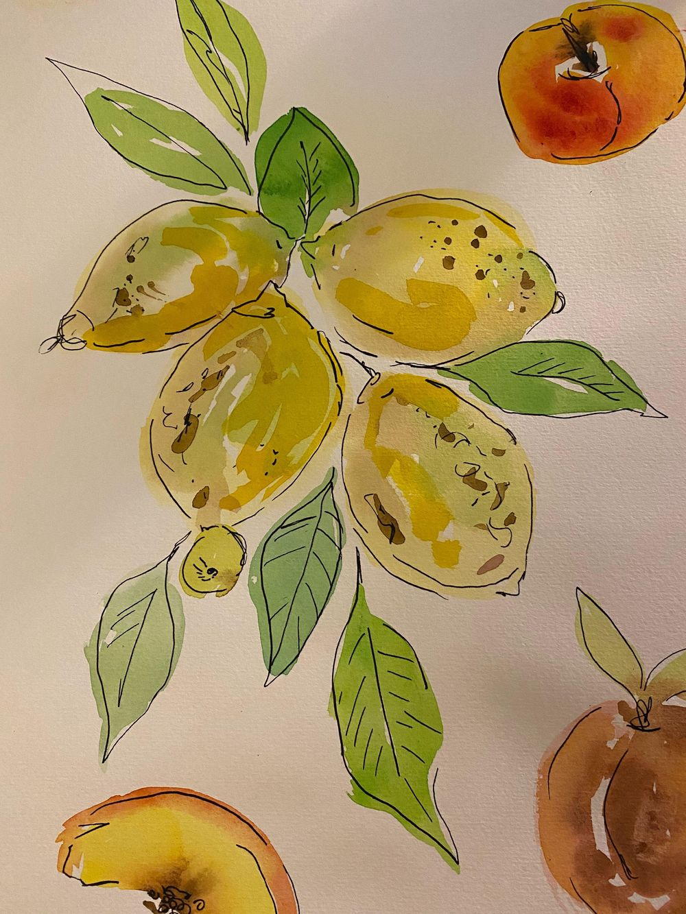 watercolor + ink practice - image 7 - student project